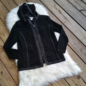 MISOOK Black Mesh lightweight Hoodie Jacket Zip Up